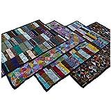 Patchwork Tagesdecke Bett-Überwurf Patchworkdecke Steppdecke Quilt Shabby Decke Überdecke Handarbeit Einzelbett Farbe Motiv 1