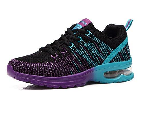 NEOKER Donna Scarpe da Running Sportive Corsa Sneakers Ginnastica Outdoor Multisport Shoes Nero 38
