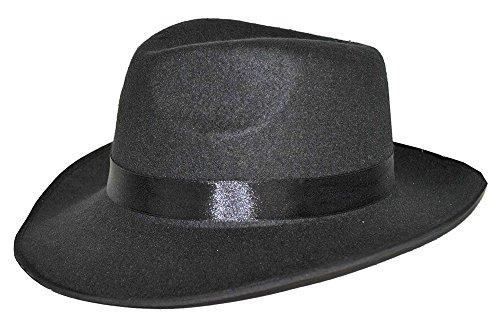 Al Capone Mafia Hut - Schwarz - Zubehör zum zum 20er Jahre Gangster Boss Kostüm - Karneval Mottoparty Junggesellenabschied Theater (20er Jahre Gangster Der)