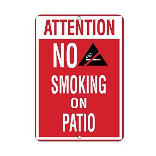 Aufmerksamkeit nicht rauchen auf Terrasse Aktivität Pool Funny Geschenk für Damen Outdoor-Metall Aluminium Schild
