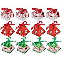 12 unids Surtido Estilo Papá Noel Reno Árbol de Navidad Decorativo Presente Regalos Bolsa de Embalaje Feliz Navidad Caja de Dulces