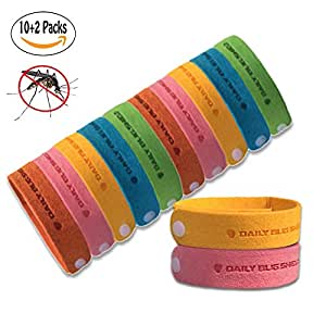 UK 5pcs Natural Anti Mosquito Insect Bug Repellent Bracelet Bands