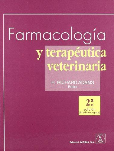 Farmacología y terapéutica veterinaria