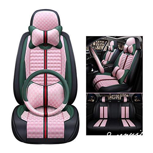 HRFHLHY Atmungsaktiver 5-Sitzer-Autositzbezug Kompatibel mit Renault: Koleos, KADJAR, CAPTUR, Laguna, Scenic, Espace,Rosa,CAPTUR