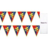 1 x Coco&Bo - Magical Wizarding Gryffindor Hogwarts Houses Party Bunting - Harry Potter Theme Party Decorations Table Accessories