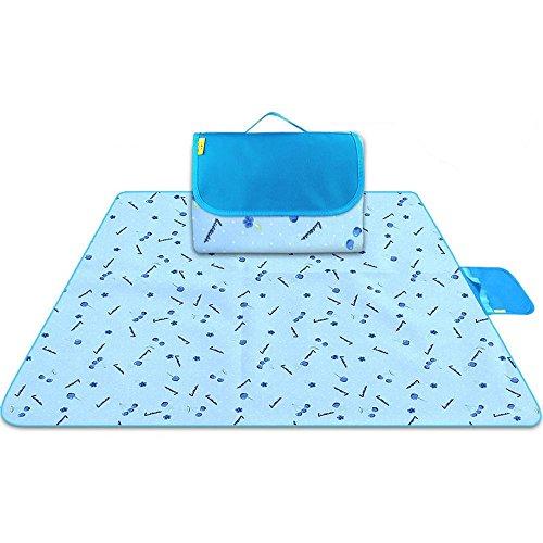 DOGYEARDAJI Picknick Mats Outdoor tragbar Feuchtigkeit Pad wasserdicht Dick Strand Rasen Picknick Mats, C, 200x200cm