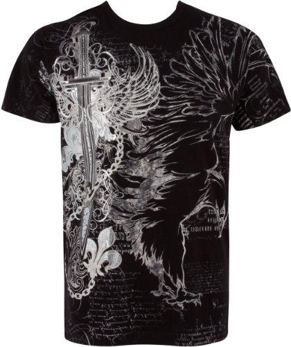 Eagle,Swoderd and Chains T-Shirt für Männer - Schwarz / Medium
