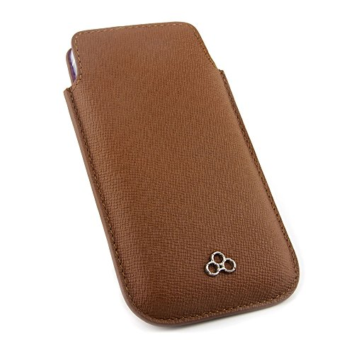 QUADOCTA custodia in pelle cover per case No. 5 per iPhone Apple 6 6s 4,7 pollici Tabacco in vera pelle. Sottile custodia in pelle, elegante accessorio per l'iPhone 6 6s (4,7) Apple originale - Caramello
