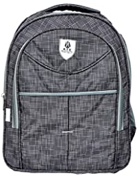 KTX Grey Synthetic Coated Cloth School Backpack (25 LTR) - Middle & High School