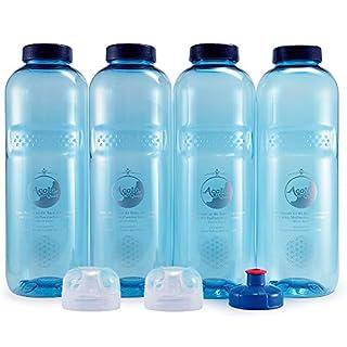 Acala Trinkflaschen Grosses Flaschen Set Grip 1,0 Liter plus Deckel
