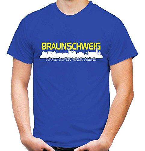 Braunschweig Skyline T-Shirt | Fussball | Männer | Herren | Stadt | Ultras | Niedersachsen | Sport Blau