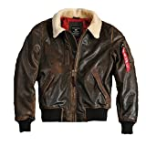 Alpha Industries Herren Injector III Leather (2XL, Vintage Brown)