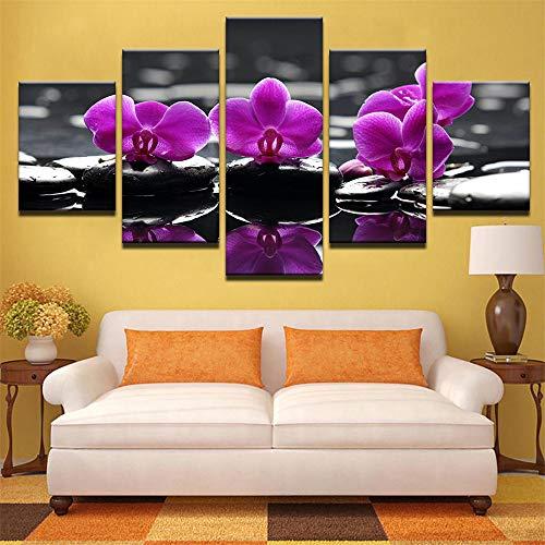 Dekorative Malerei,Blume Stein Wulian Bambus Green Leaf Printing Home Zimmer Malerei Wandmalerei 9 Malerei Kern 20x35cmx2 20x45cmx2 20x55cmx1