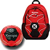 Kempa Rucksack mit Ballnetz + Handball rot Größe 1 (auf Wunsch mit Aufdruck Name)