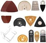 Saxton SHAK70 - Set di accessori per utensili multifunzione Fein Multimaster, Bosch, Makita, 70 pz.
