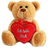 Teddybär mit Herz (Ich liebe Dich), ca. 25cm