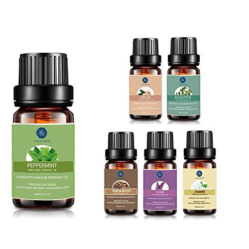 6pcs juego de aceite, lagunamoon Premium terapéutico aceite esencial Set De Regalo Aromaterapia Aceite inspirador mezcla Kit