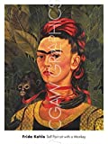 Frida Self Portrait with a Monkey, 1940 Poster Print (18 x 24)