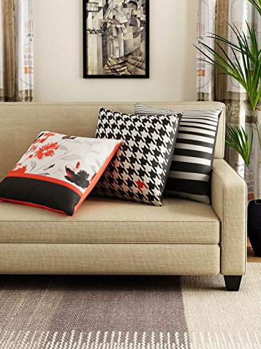 Tangerine Tangerine Midnight Rouge 3 Piece Polyester Cushion Cover Set - 16