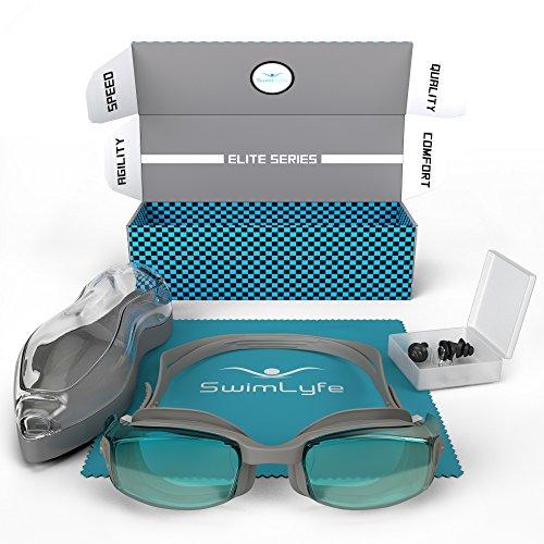 Swimlyfe - Schwimmbrille mit firmeneigenem Patent des Anti-Beschlagens und Silikontechnologie. Unisex Design für Männer und Frauen