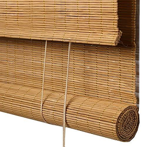 Estor enrollable YXX Cortinas enrollables de bambú Sombra Solar - Filtrado de luz Enrolle persianas con Cenefa para jardín, Patio, galería, balcón (Tamaño : 80x120cm)
