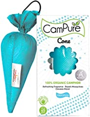 Mangalam Campure Original Camphor Cone - Room Freshener, Mosquito - Insect Repellent 60g (Pack Of 4)