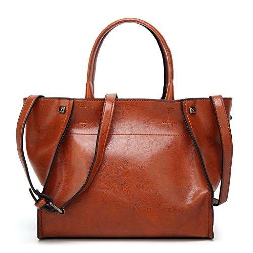 Bag Salon-UK, Borsa a tracolla donna, Red (rosso) - L302 Red