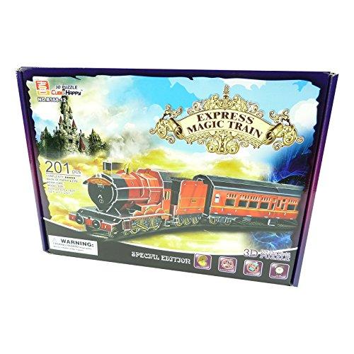 CubicFun Fahrzeuge Bauwerke 3D Puzzle - Spielzeug Modell Architektur Monument - Express Magic Train