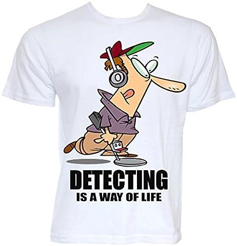 Vêtement officiel Beat Funny Tees-Détecteur de métal détecter Is A Way Of Life Detectorists T-shirt Motif Hobby - Blanc - X-Large