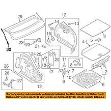 sujeción BANDEJA TRASERA DERECHO ORIGINAL AUDI A3 S3 RS3 (8v) Sportback cubierta del maletero