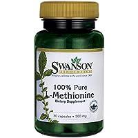 Swanson - L-Methionin PURE 500mg, 30 Kapseln - Schutz & Entgiften Leberzellen - Haarausfall, Warzen, Synthesis... preisvergleich bei billige-tabletten.eu