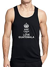 Teeburon Keep calm and love Guatemala Camiseta de tirantes