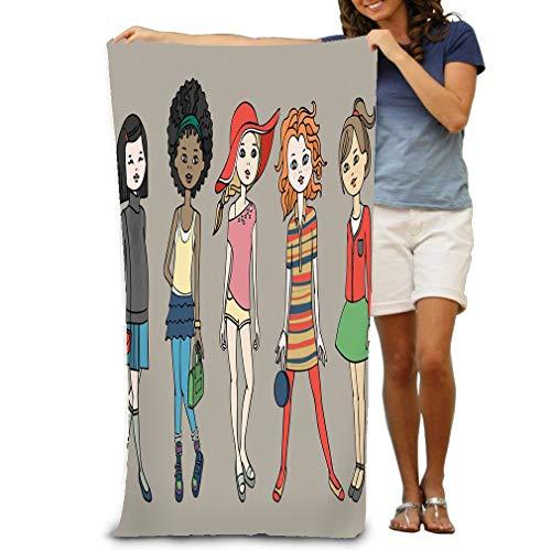 dult Microfiber Towel 31 X 51 Inch Bath Sheet Set ??ute Teen Girls Fashion Outfits Body Template Dress up Paper doll ()