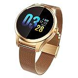 smart watch 2019, Fitness Tracker, Schrittzähler, Herzfrequenz- / Schlaf-Detektor IP67 wasserdichtes Sport-Fitnessuhrspiel - für Android und iOS - DREI Farben optional