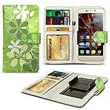 N4U Online® Green Flowers Patterned Clip On Series PU