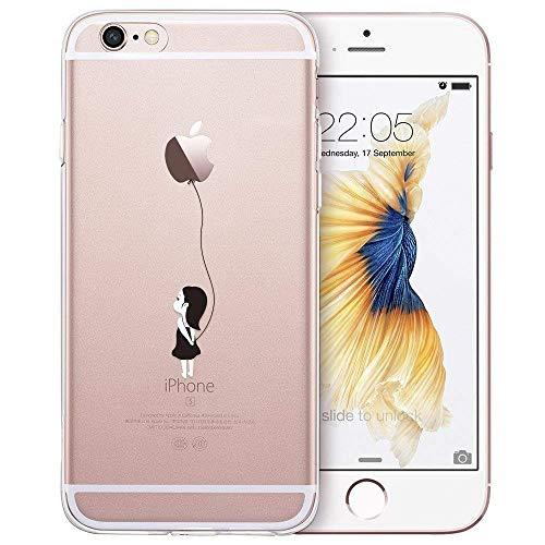 ESR Klare Hülle kompatibel mit iPhone 6 / iPhone 6s Hülle - Dünne weiche TPU Handyhülle mit doppelseitigem Druck (Ballon)