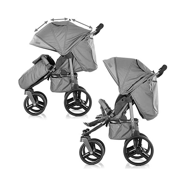 Chipolino Twix Pushchair Brown Chipolino Twin pushchair folds easily with automatic locking From birth, sun canopy with window and pockets Backrest can be adjusted to 5 different sitting and lying positions independently of each other 6