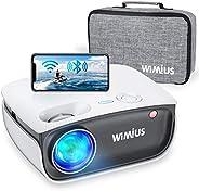 Proyector WiFi, WiMiUS 5800 Proyector de Video Portátil Proyector Soporta 1080P, 720P Proyector Nativo Cine en