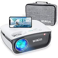 Proyector WiFi, WiMiUS 5800 Lúmenes Proyector Bluetooth Portátil Proyector Soporta 1080P y Audio AC3, 720P Proyector Nativo Cine en Casa 70,000 Horas Proyector Mini para Smartphone Android y iPhone