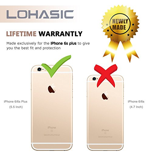 iPhone 6s Case/ iPhone 6 Case, LOHASIC Morbida Antiurto Cassa Del Respingente Copertura Posteriore Con Placcatura Dei Metalli In Plastica Per Apple iPhone 6s (2015) & iPhone 6 (2014)-4.7,Oro Oro