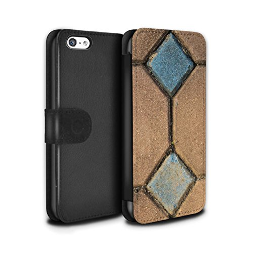 Stuff4 Coque/Etui/Housse Cuir PU Case/Cover pour Apple iPhone 5C / Petit Mur de Pierre Design / Pierre/Rock Collection Pavage