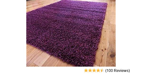 EXTRA LARGE PURPLE MEDIUM NEW MODERN SOFT SHAGGY RUGS NON SHED RUNNER MATS 120 X 170 CM (4 FT X 5 FT 7) FREE UK MAINLAND DELIVERY: Amazon.co.uk: Kitchen & ...