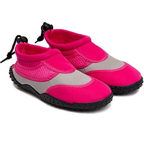 Badeschuhe Neoprenschuhe Wasserschuhe Surfschuhe Strandschuhe für Kinder, Damen und Herren von Gr. 28-46 - große Farbauswahl Pink Kinder