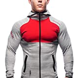 Partiss Herren Jungen Gym Fitness Training Langarm Muscle Kapuzenpullover Jacke Hoodie Mit Reissverschluss
