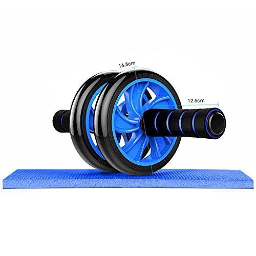 Foto de W-top AB Roller Wheel Rueda Doble AB Abdominal Aparato de Entrenamiento y ayuda para Bajar de Peso, Regalo con alfombrilla para las rodillas
