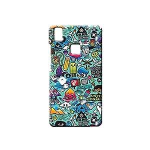 BLUEDIO Designer Printed Back case cover for VIVO V3 - G0838