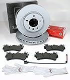 Autoparts-Online Set 60010148 Zimmermann Bremsscheiben Coat Z/Ø 330 mm Bremsen + Bremsbeläge + Warnkabel für Vorne/für die Vorderachse