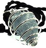 Celestite con pendente in cristallo, motivo a spirale