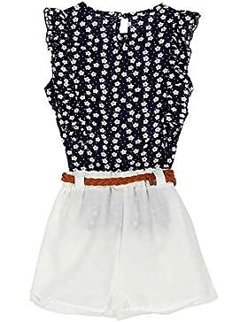 BOBORA Bambini bambino ragazze Floral t-shirt Top + Pantaloni corti abbigliamento set