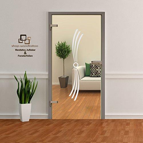 Glastür Aufkleber Tattoo Folie Glasdekor Fensterfolie Sichtschutz Wohnzimmer, Bad, Küche oder für alle Glasflächen Sichtschutzfolie für Türen GDT004 Größenwahl (ca. 80cm x 16cm)